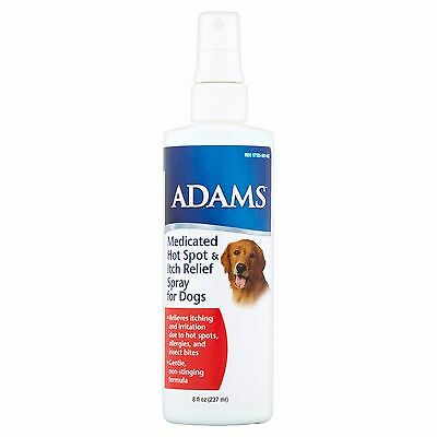 Adams Medicated Hot Spot and Itch Relief Spray for Dogs, 8 oz