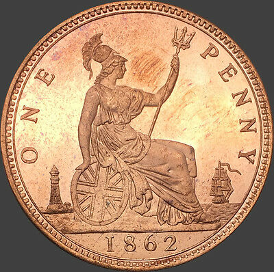 1862 Victoria Penny, Copy, (FREE UK POSTAGE AVAILABLE)