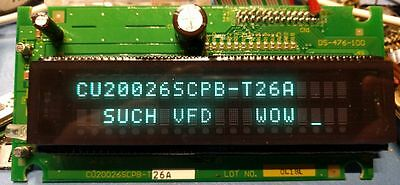 Noritake VFD 2x20 Vacuum Fluorescent Display CU20026SCPB-T26A -- With tech info!