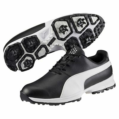 Puma Grip Cleated Golf Shoes - Black/White