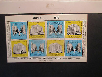 1-- 1972 --Anpex  Adelaide  Philatelic  Sheet --Mint  --Mnh  ---A 1