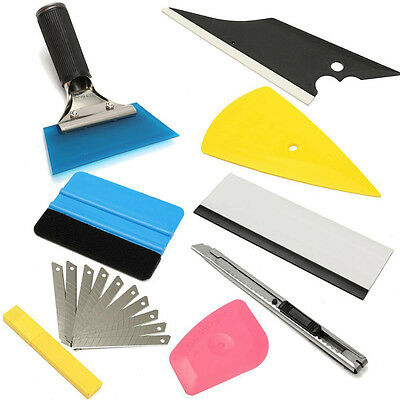 Hot 8* Squeegee Car Window Tinting Film Wrapping Install Applicator Tools Kit