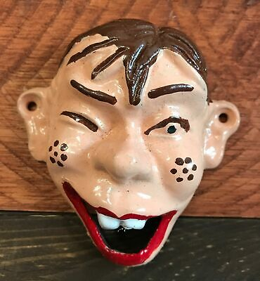 Howdy Doody Cast Iron Wall Mount Bottle Opener Soda Beer Garage Bar Man Cave