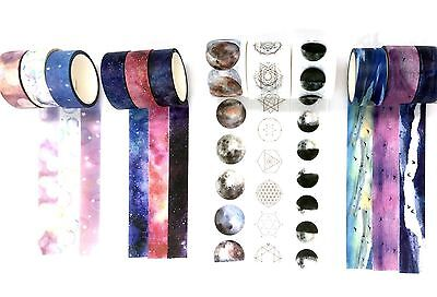 3 rolls Cosmos Milky Way Moon Fairy tale Sky Washi tape Set