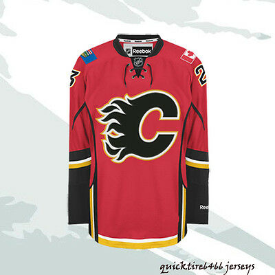 Sean Monahan #23 Calgary Flames Hockey Jersey Size M-3XL Red Home