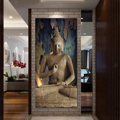 """MODERN ABSTRACT WALL DECOR ART PAINTING ON CANVAS """"no frame"""" Stone Buddha M"""