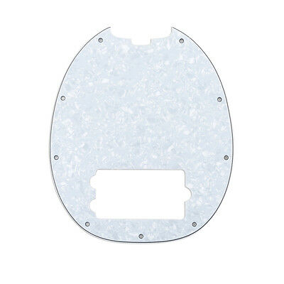 White Pearl 4Ply Humbucker Pickguard For Standard Music Man Stingray Bass Guitar