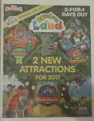 2 for 1 Voucher Ticket Legoland  Alton Towers Thorpe Park Chessington Sealife