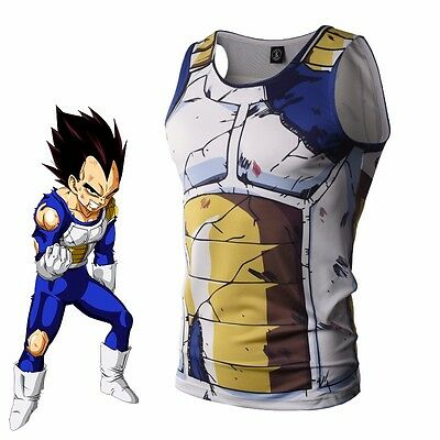 Anime Dragon Ball Vegeta T-shirt Tank Top Sports Gym Vest Jersey Cosplay Costume