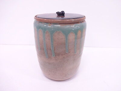 3014285: Japanese Tea Ceremony / Mizusashi (Water Jar) / Dripping Glaze