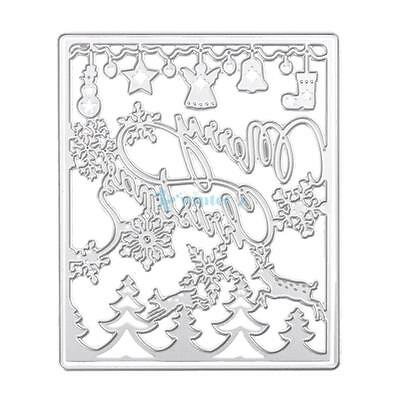 New Merry Christmas Cutting Dies Stencil For DIY Scrapbook Album Paper Card