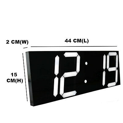 Modern Wall Clock Display Countdown Stopwatch Time Alarms Wall Watch Home Decor
