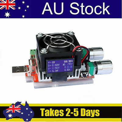 AU 35W OLED Display USB Electronic Load Constant Current Battery Capacity Tester