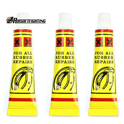 3X Bike Bicycle Tire Patch Glue Rubber Tube Tyre Patching Repair Glues Fix Tool