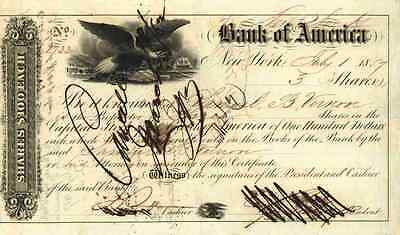 Bank of America New York Charlotte San Francisco 1857 Seafrist Seattle 3 Shares