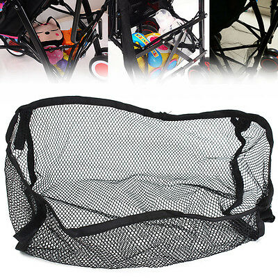 Universal Under Storage Net Bag Black For Buggy Stroller Pram Basket Shopping