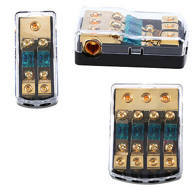 2/3/4 Ways out Car Truck Stereo Audio Power Safety Fuse Holder Fuse Box Copper