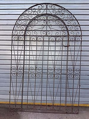 Wrought Iron Back / Side Gate With Frame Garden Feature
