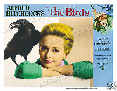 The Birds Lobby Scene Card # 9-A  Poster 1963 Tippi Hedren Hitchcock