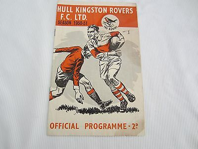 1950-51 RUGBY LEAGUE YORKSHIRE CUP HULL KINGSTON ROVERS v BATLEY