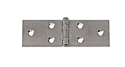 Wide Flap Table Hinge Stainless Steel Satin Finish 120x 33 x 1.2mm