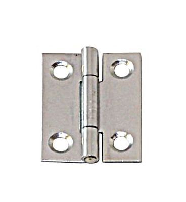 Narrow Hinge Stainless Steel Satin Finish 80 x 41 x 1.5mm