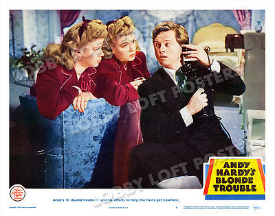 Andy Hardy's Blond Trouble Lobby Scene Card # 6 Poster 1944 Mickey Rooney Wilde