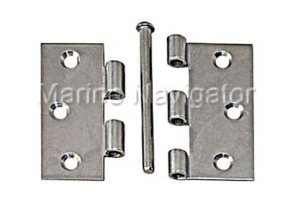 Hinge with Loose Pin Stainless Steel Satin Finish 63x63mm