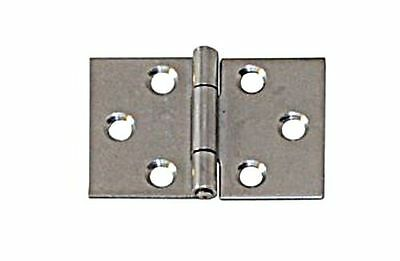 Wide Hinge Undrilled Stainless Steel Satin Finish 60 x 90 x 1.25mm