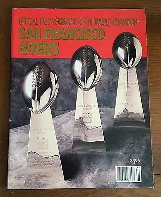 Official 1989 Yearbook Of The World Champion San Francisco 49Ers