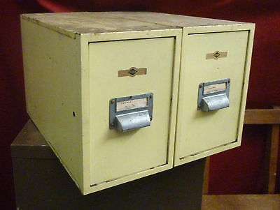 Vintage 'Criterion' Industrial Metal File Drawers