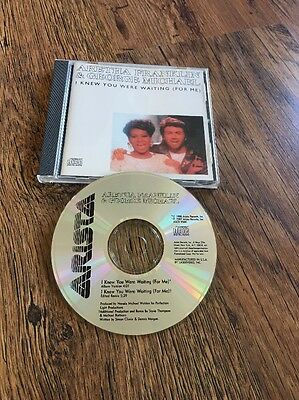 ❣RARE❣TOP 3 COLLECTIBLE PROMO CD•I Knew You Were Waiting~George Michael & Aretha