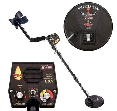 "New Tesoro Mojave Metal Detector With 7"" Search Coil"