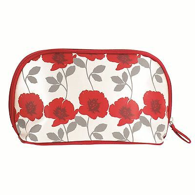 Danielle Poppy Medium Sized Curved Top Cosmetic Bag