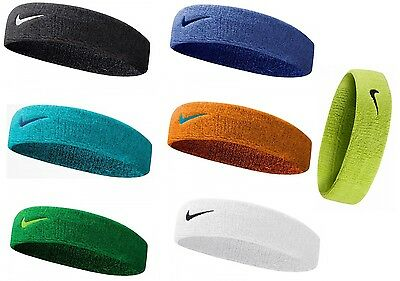 Nike Swoosh Headband Black, Blue, Orange, Green, White Colours Available
