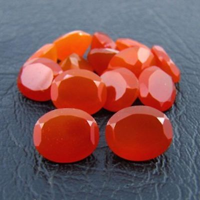 Natural Carnelian Faceted Cut Oval 4x6mm to 10x12mm Top Quality Loose Gemstone