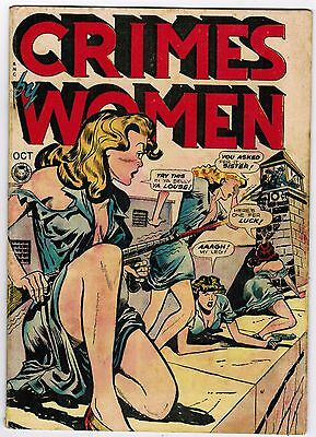 Crimes By Women # 3 (1948 Fox) Vg/fn Classic Gga Cover Soti Scarce Iconic