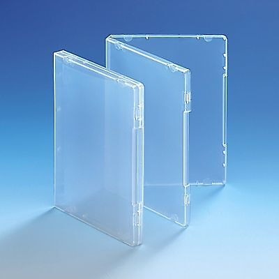 25 Ultra Clear DVD Style Multi Storage Case 14mm Spine Empty Without Disc Holder