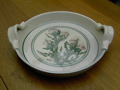 Highland Pottery Newtonmore Scottish Thistle Dish Handpainted Free UK Post