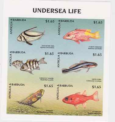Antigua & Barbuda - Marine, Undersea Life, Fish, 1998 - Sc 2129 MNH IMPERFORATE