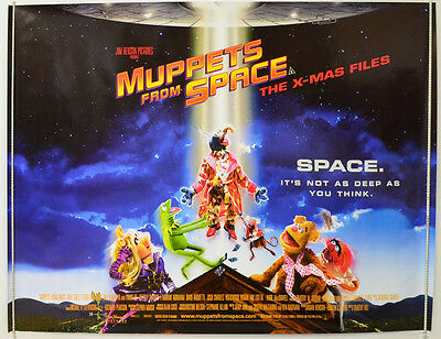 MUPPETS FROM SPACE (1999) Original Quad Movie Poster - Frank Oz, Brian Henson