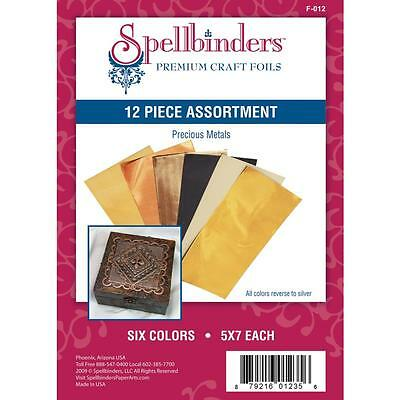 Spellbinder - Precious Metals Premium Craft Foils Assortment - 12/pkg