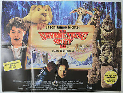 THE NEVER ENDING STORY III (1994) Cinema Quad Movie Poster - Jason James Richter