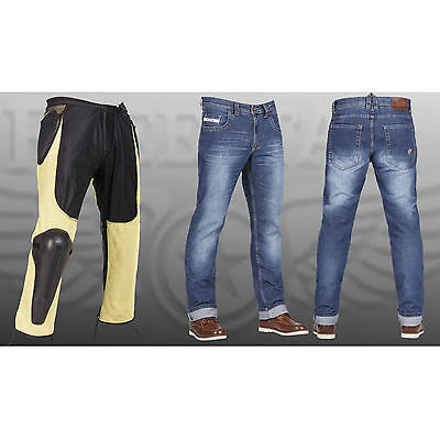 FREESTAR Cafe Racer Blue Mens Summer Motorcycle Protective Jeans