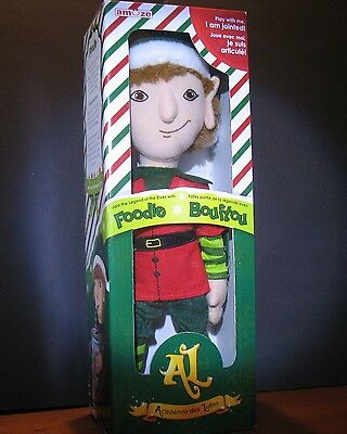 """New Boy  Foodie Plush jointed elf doll by Amuze 14""""  inch Brown hair"""