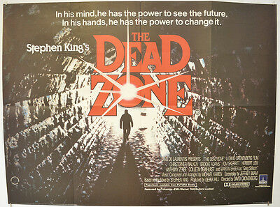 THE DEAD ZONE (1983) Quad Movie Poster - Christopher Walken, David Cronenberg