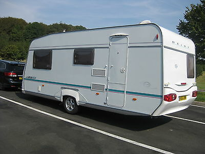 Lovely 2005 Geist 4 Berth Caravan with Motor Mover & Full Awning.
