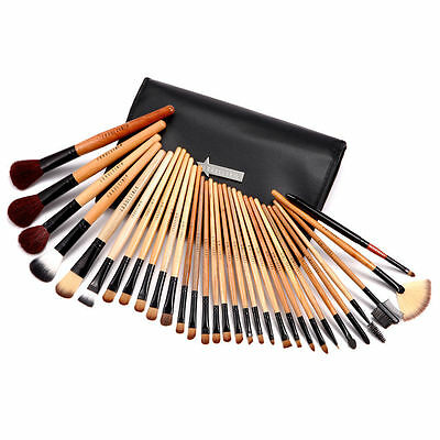 Fraulein 38 31 Pennelli Professionale NAIL ART Make-up Brushes bamboo case