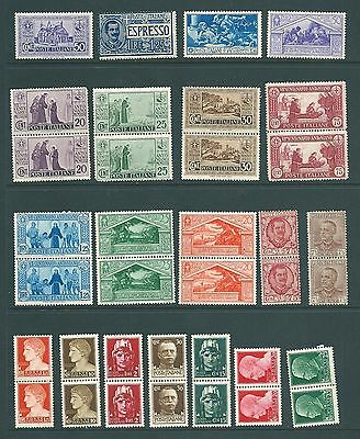 ITALY - A vintage stamp collection - MINT including pairs
