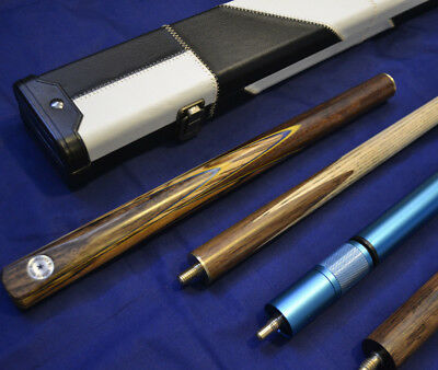 "57.1"" Handmade 3/4 Snooker Cue Set includes extensions and case"